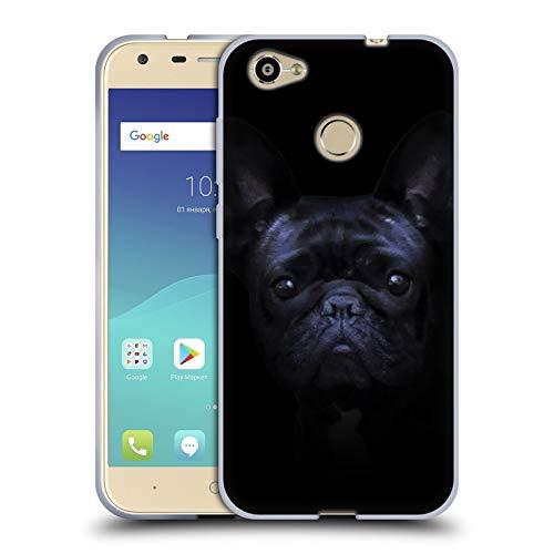 Head Case Designs Ufficiale Klaudia Senator Oscurità Bulldog Francese 2 Cover in Morbido Gel Compatibile con ZTE Blade A6