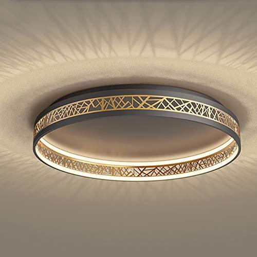 Vikaey LED Deckenleuchte mit Fernbedienung, dimmbar Rund Aushöhlen Design Wohnzimmer Deckenleuchten, Metall Arbeitszimmer Schlafzimmer Lampen(40cm*40cm*12cm)