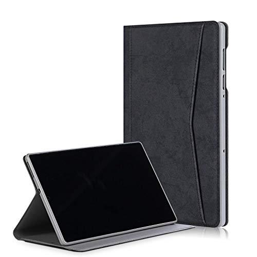 Xuanbeier TPU Soft Hülle Kompatibel mit Lenovo M10 FHD Plus (TB-X606F TB-X606X) 10.3 Zoll Abdeckung mit Funktionsständer Funktion Schutzhülle mit Schlaf-Weck-Funktion,Schwarz