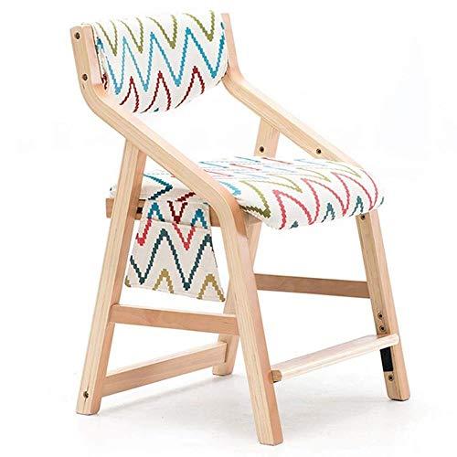 FENG Ergonomische bureaustoel stoel Verstelbare leerstoel voor het eten Lezen Tekenen Bureau Stoel met Verwijderbare Stoel Cover en Opbergtas C