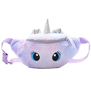 Lindo riñonera con diseño de unicornio, bolsa de cinturón de peluche, bolsa de pecho, bolsa de hombro pequeña, paquete…