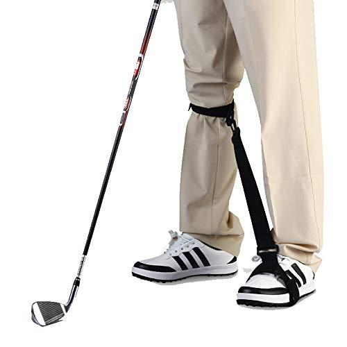 QSCZZ Leg Korrektur Gürtel, Golf Beintrainer, Körperhaltung Korrektur Anfänger Trainingshilfsbein Befestigung Velcro für Innen und Außen