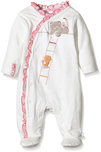 Noukies - Iris et Babette Pyjama Jersey Off White, Blanc (Weiß), FR : 1 mois (Taille fabricant : 1M)