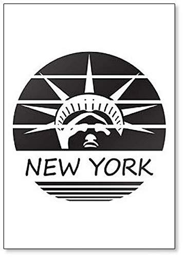New York Statue of Liberty USA America Silhouette Koelkast Magneet