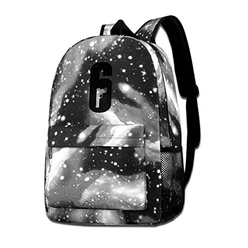 Rogerds Schultasche Freizeittasche, Man Woman Tom Clancy's Rainbow Six Siege 6 Baseball Cap Ash.png Fashion Rucksack Starry Sky Backpacks Travel Daypack Bags for Teens Girls Boys
