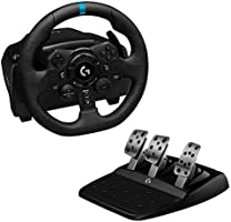 Logitech G923 Racing Wheel and Pedals for Playstation 4 and PC featuring TRUEFORCE up to 1000 Hz Force Feedback,...