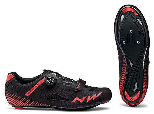Northwave Core Plus Rennrad Fahrrad Schuhe schwarz/rot 2020: Größe: 45