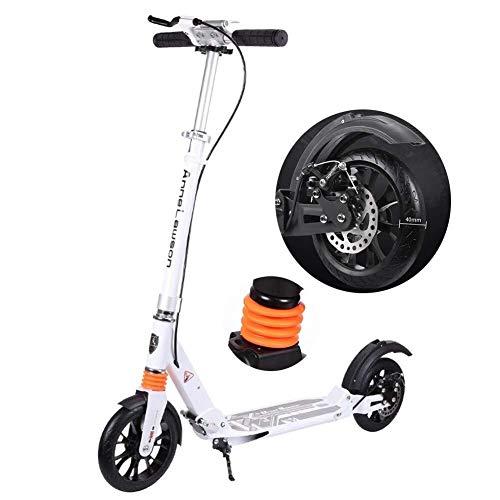 Scooter de pie Todas Aluminio Doble absorción de choque plegable de dos ruedas Vespa freno de pie clásico, regalos de cumpleaños for las mujeres / hombres / Adolescentes / Niños, no eléctricos, Scoote