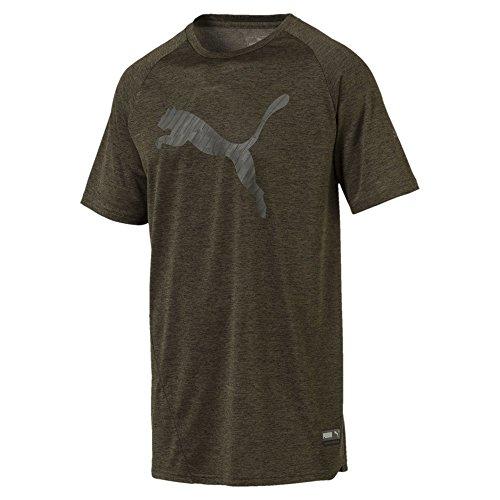 PUMA Herren T-Shirt A.C.E Heather Cat, Forest Night Heather, L, 516650
