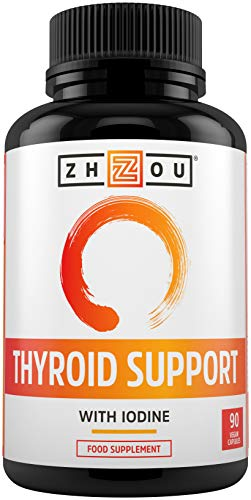 Thyroid Support - Advanced Complex with Iodine, Magnesium, Vitamin B12, L-Tyrosine, Ashwagandha, Schizandra & Cayenne - Contributes to The Reduction of Tiredness & Fatigue - 90 Vegan Capsules