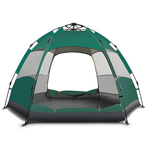 Rahmen Zelte Außenzelt 8 Personen 10 Personen 12 Personen Multi Person Camping-Zelt Ideal für Camping Wandern Außen (Color : Dark Green, Size : 240x200x135cm)