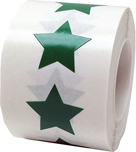 Grüne Stern Aufkleber, 19 mm 3/4 Zoll Etiketten 500 Packung