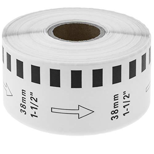 BeMatik - Rotolo bobina di etichette adesive compatibili con Brother DK-2225 larghezza 38 mm lunghezza 30,48 m (KT069)