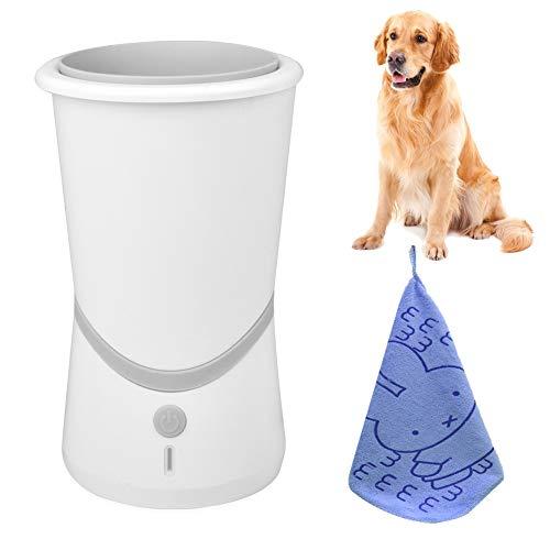 BONROB Hunde Pfote Reiniger Pfotenreiniger Automatische, Hundepfoten Reiniger, Haustiere Fuß Reinigungsbürst für Haustier Tragbare Pet Reinigung Automatische Pinsel Tasse BP08