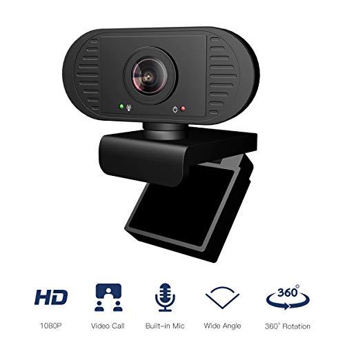 Veroyi 1080P Webcam mit Mikrofon, Computer Webkamera Desktop/Laptop Video Webcam für Videokonferenzen, Aufzeichnung, Streaming und Online-Studie