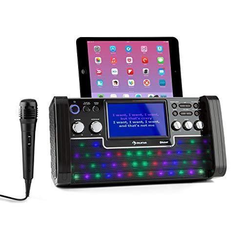 auna DiscoFever LED Edition - Bluetooth-Karaokeanlage mit 7