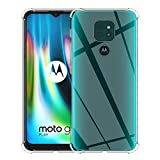 ELYCO für Motorola Moto G9 Play Liquid Crystal Hülle, Superdünnes Softschale R&umschutz Anti-Fall Anti-Fingerabdruck TPU Handyhülle Durchsichtige Schutzhülle Hülle für Moto G9 Play [Transparent]