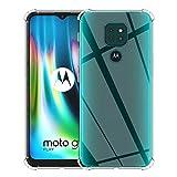 ELYCO Funda Cristal Compatible con Motorola Moto G9 Play, Carcasa Cristal Ultra Slim Flexible Suave...