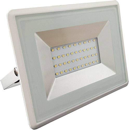 V-Tac Faro LED 30W Esterni Bianco con Vetro IP65 2550Lm Luce Naturale 4000K
