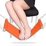 SMAGREHO Foot Hammock Portable Adjustable Office Under Desk Foot Sling, Orange
