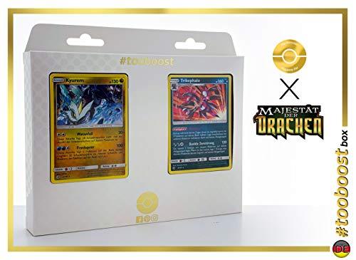 Zekrom 46/70 & Kyurem 47/70 #tooboost X Sonne & Mond 7.5 Majestät der Drachen - Box mit 10 Deutsche Pokémon-Karten + 1 Pokémon-Goodie