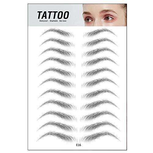 Fanville 4D Haarähnliche authentische Augenbrauen Wasserdicht langlebig für Frauen Lady Augenbrauenaufkleber