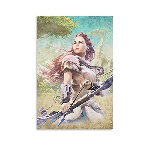 BIANTAI Póster de Game Horizon Zero Dawn Aloy Art Art - Cuadro decorativo para pared (60 x 90 cm)