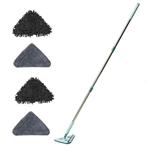 Renwu Reinigungsmopp Dreieck Triangle Clean Mop Mit Nachfüllungen Einziehbar 360 ° Drehbar Clean Komplett Set,Wischmopp Wischer Für Küche Wohnzimmer Bodenwischen Mini Mop