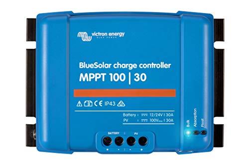 Victron Energy - Regolatore di carica solare 12/24 V BlueSolar MPPT 100/30
