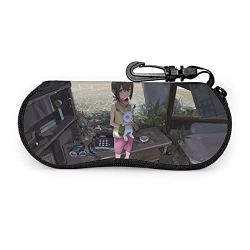 Digimon Adventure - Gafas de sol con mosquetón, suave, portátil, con cremallera, flexible, ligera, 3,6 x 17 x 7,9 cm