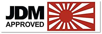 Japanese Domestic Market  JDM  Approved automotive car deal Printed on Orafol long lasting waterproof Vinyl Sticker Perfect for Toyota Honda Mazda Nissan & Subaru Easy to Remove Without Residue.