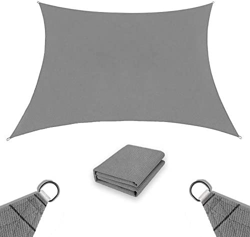 Sun Shade Sail 6 x 8 Rectangle Durable Roll Up UV Block Sun Shade Cover Cloth for Outdoor Patio product image