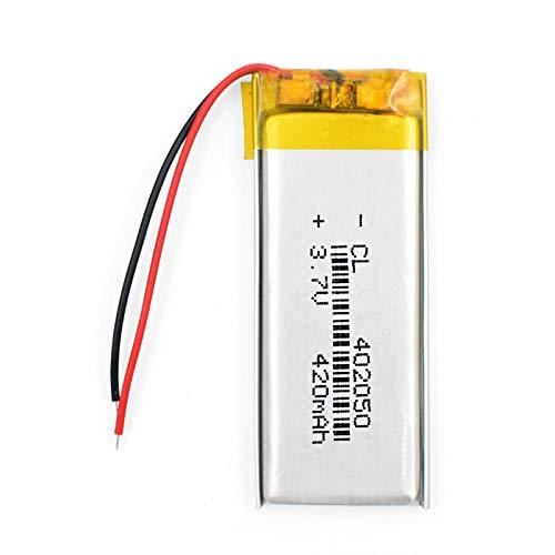 TTCPUYSA Batteria agli Ioni di Litio Ai Polimeri di Litio 3.7v 420mah 402050 Li Po, Ricaricabile per Altoparlante Bluetooth Tachigrafo 402050420mAh1pcs