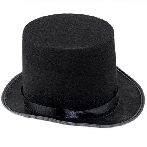 ADSBOR Sombrero Sombrero mágico Sombrero de Copa Sombrero de Copa niños Adultos Sombrero de Jazz no Tejido-Altura Gorra Infantil 13cm