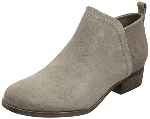 TOMS Desert Taupe Suede/Heritage Canvas Women's Deia Bootie 10013039 (Size: 8.5)
