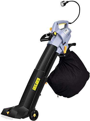 Topelek Leaf Blower Vacuum Mulcher, Variable 7-Speeds Blower Vacuum (max up to 600 CFM), 13.5A Power Leaf Blower Vacuum, Adjustable Height Leaf Blower with Wheels