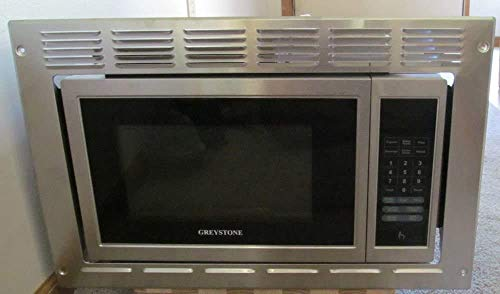GreyStone RV Microwave | .9 Cubic Ft Stainless Steel Microwave with Trim Kit | 900 Watt P90D23AP-YX-FR03 | Direct Replacement for High Pointe and GreyStone
