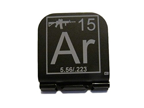 AR-15 Periodic Table of Elements Tile Laser Etched Hat Clip Brim-it Black