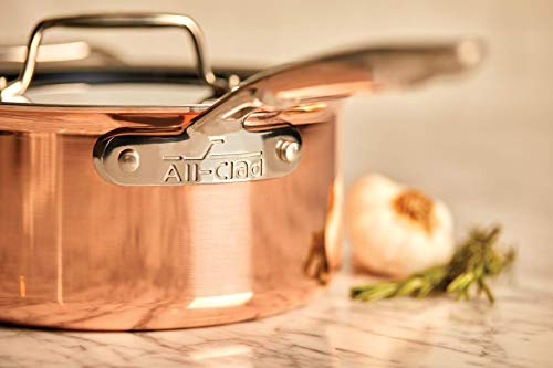 All-Clad C4215 C4 2.5 Qt. Saucier, Cookware, Copper