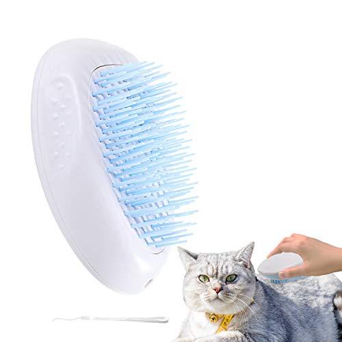 JIUJIU Gatos Perros Gatos Cepillo de Aseo para Mascotas, Cepillo de Silicona Suave de Limpieza automática Lavable, Cepillo de baño para Pelo Largo y Corto Cepillo de Aseo para Mascotas