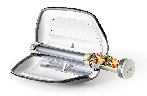 GoSun Go - Fornello a energia solare, portatile, per alimenti, 0,9 l, ideale per campeggio o hiking, argento