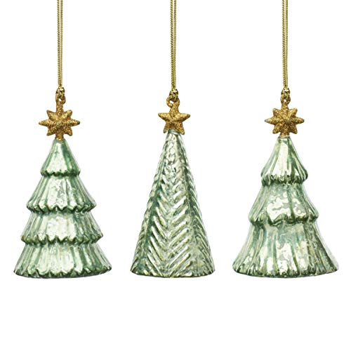 Lenox 886070 Mercury Glass 3-Piece Tree Ornament Set