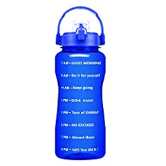 ❤MOTIVATIONAL QUOTE & TIME MARKER:Our ergonomic and practical water bottle features a unique time marker on the exterior, which can help you monitor your daily water intake effortlessly. ❤FUNCTIONAL DESIGN:BuildLife The flip top lid is designed with ...