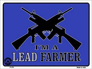 Losea I'm A Lead Farmer Retro Vintage Metal Tin Sign Wall Plaque - for Cafe Beer Club Wall Home Decor 8x12