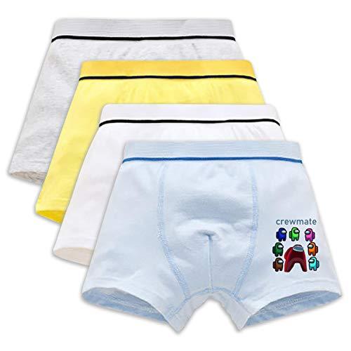 Among Us - Calzoncillos tipo bóxer de algodón para adolescentes (paquete de 4)
