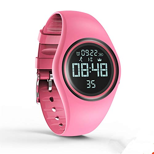 Kids Watch Electronic Waterproof Watch Activity Tracker for Boys and Girls Sports & Fitness Tracker with Step Count and Silent Alarm Clock (Pink)