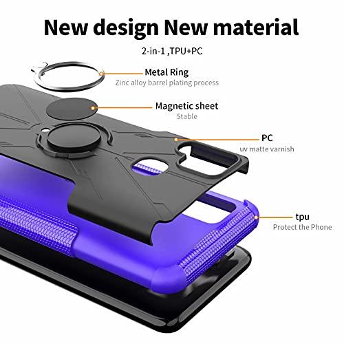Dedux Funda para Sony Xperia 5 III, Soporte Plegable Kickstand Cubierta Resistente a Prueba de Golpes Anti-Caída para Exteriores Carcasa +2 Protectores De Pantalla. Negro