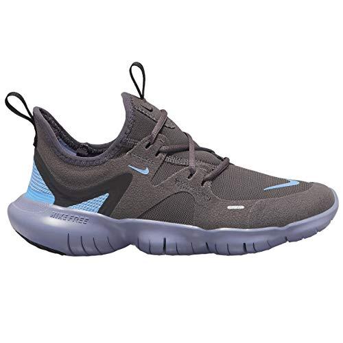 Nike Unisex-Erwachsene Free Rn 5.0 (Gs) Laufschuhe, Mehrfarbig (Thunder Grey/Light Blue/Stellar Indigo 4), 40 EU