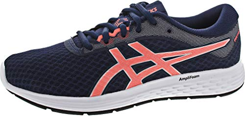 ASICS Womens Peacoat/Sun Coral Running Shoes - 5 UK