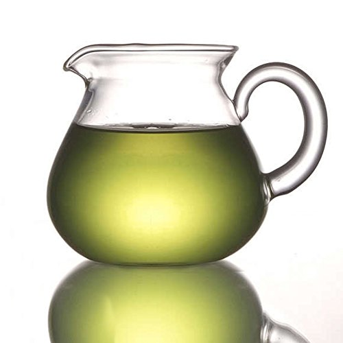 ELITEA Clear Glass Milk Tea Serving Pitcher Cream Pitcher Creamer Mug 200ml / 7 fl.oz for Tea Coffee